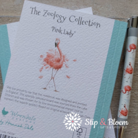 """Wrendale A6 Paperback Notebook """"Flamingo"""""""