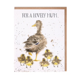 "Wrendale greeting card ""For a Lovely Mum"" - eend"