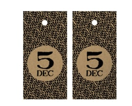 Cadeaulabels - 5 dec - per 5
