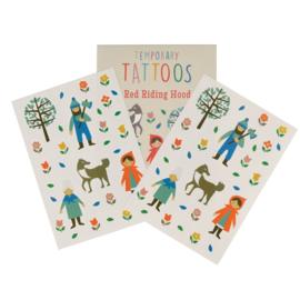 Plak tattoos - Roodkapje