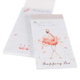 "Wrendale Magnetic Shopping Pad ""Pretty in Pink"" - flamingo"