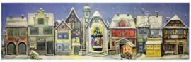 XL Adventskalender Kersthuisjes