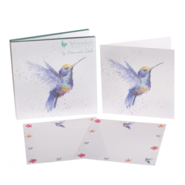 "Wrendale Notecard Pack ""Hummingbird"""