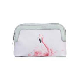 "Wrendale make-up tasje ""Pink Lady"" - flamingo"