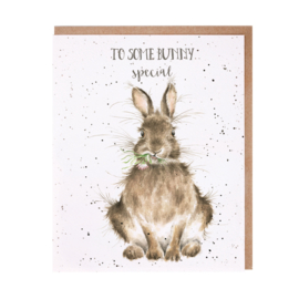 "Wrendale greeting card ""Some Bunny Special"" - konijn"