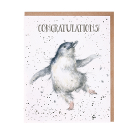 "Wrendale greeting card ""Congratulations!"" - pinguin"