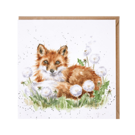 "Wrendale greeting card - ""The Dandy Fox"" - vos"