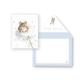 """Wrendale mini card """"Dandelion"""" - paardebloem"""