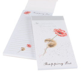 "Wrendale Magnetic Shopping Pad ""Mouse & Poppy"""
