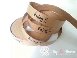 Papierband - enjoy - per meter