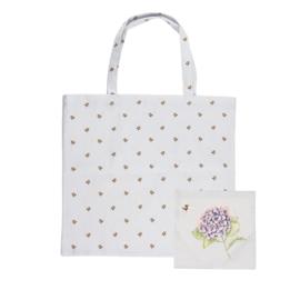 """Wrendale foldable shopping bag """"Hydrangea"""" - hommel"""