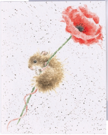 "Wrendale mini card ""Poppy & Mouse"" - muis"