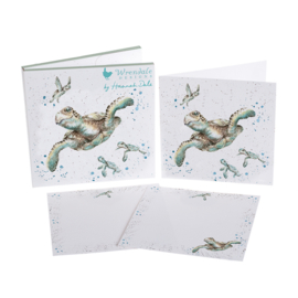 "Wrendale Notecard Pack ""Swimming School"" - schildpad"