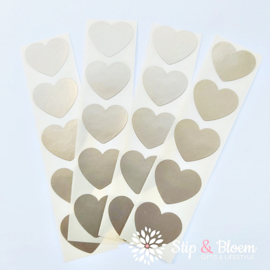 Sticker mini hart - 2cm - goud - per 20