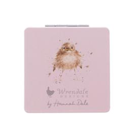 """Wrendale compactspiegel """"Home Tweet Home"""" - vogeltjes"""