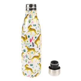 RVS waterfles/thermosfles - 500 ml - Cheetah