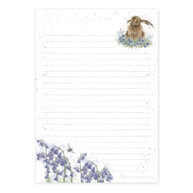 """Wrendale A5 Jotter Pad """"Hare"""" - haas"""