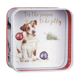 "Wrendale Christmas Tin - ""Santa's Little Helpers"""