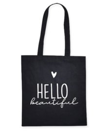 Canvas shopper - Hello Beautiful