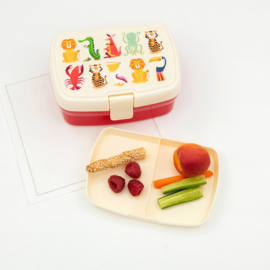 Lunchbox  met tray - Colourful Creatures