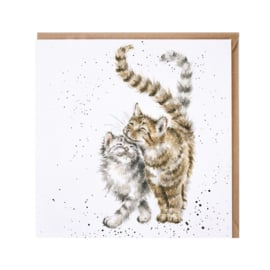 "Wrendale greeting card - ""Feline Good"" - poes"
