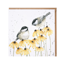 "Wrendale greeting card - ""My Sweet Chickadee"""