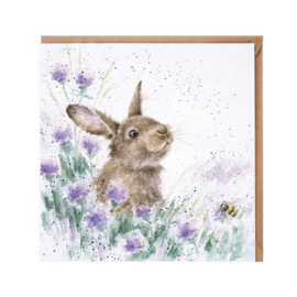 "Wrendale greeting card - ""The Meadow"" - konijn"