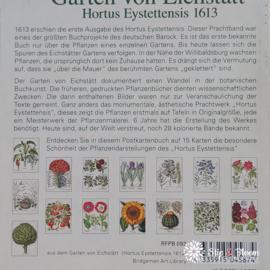 """Kaartenboekje 15 x  """"Aus dem Garten von Eichstätt"""""""