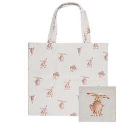 """Wrendale foldable shopping bag """"Hare-Brained"""" - haas"""