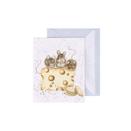 """Wrendale mini card """"Crackers about Cheese"""" - muizen"""