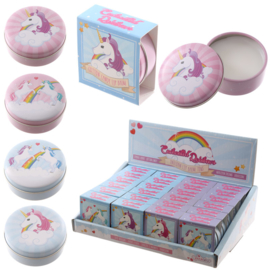 Lipbalm in blikje - unicorn