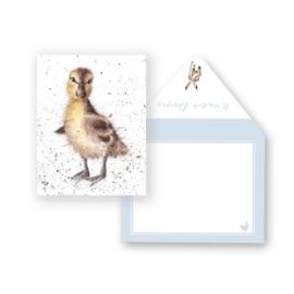 """Wrendale mini card """"Just Hatched"""" - eendje"""
