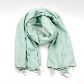 Sjaalmetverhaal - Sjaal mintgroen