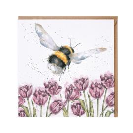 "Wrendale greeting card - ""Flight of the Bumblebee"" - hommel"