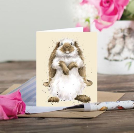 "Wrendale mini card ""Earisistible"" - konijn"