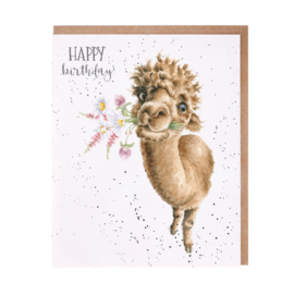 "Wrendale greeting card ""Happy Birthday"" - llama"