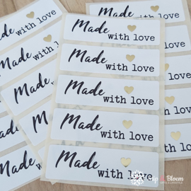 Sticker - made with love - per 20
