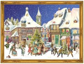 Adventskalender Kerstman en kinderen