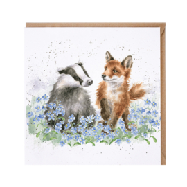 "Wrendale greeting card - ""Forget me not"" - das & vos"