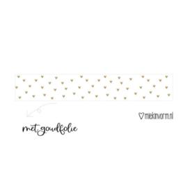 Washitape - hartjes goud