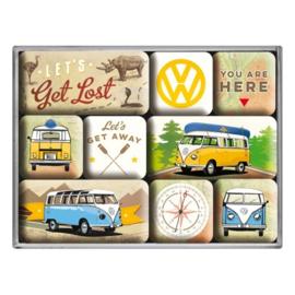 Magneetset - Volkswagen Bulli - Let's get lost