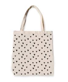 Canvas shopper - Little hearts white