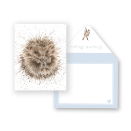 """Wrendale mini card """"Awakening"""" - egel"""
