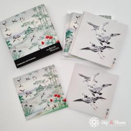 8x dubbele kaart - Birds