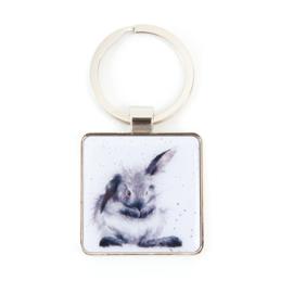 "Wrendale sleutelhanger ""Bathtime"" - konijn"
