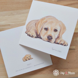 Dubbele kaart - puppy