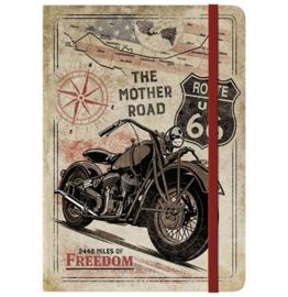 Notebook / Bullet Journal - Route 66 Bike Map