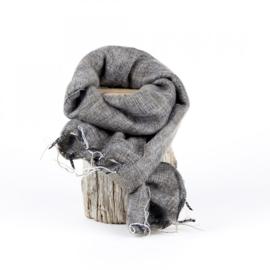 Sjaalmetverhaal - kleine sjaal taupe