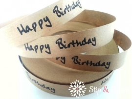 Papierband - happy birthday - per 5 meter