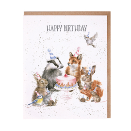 "Wrendale greeting card ""Happy Birthday"" - woodland party"